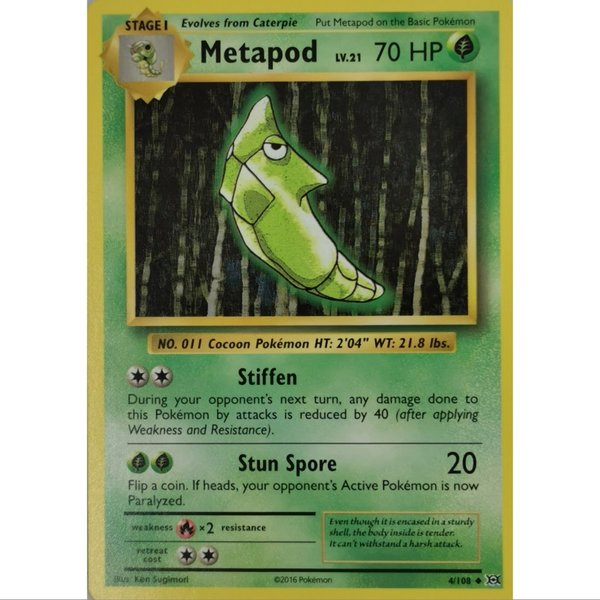 Metapod 4/108 Common XY  Evolution Englisch NM/Mint