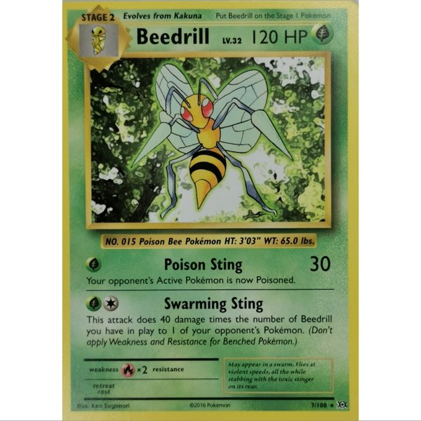 Beedrill 7/108 Common XY  Evolution Englisch NM/Mint