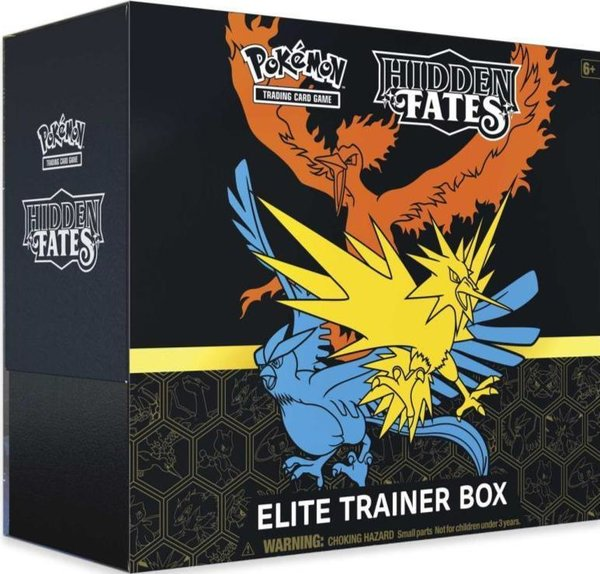 Pokemon SM 11.5 Hidden Fates - Elite Trainer Box - Englisch Reprint OVP- Vorverkauf