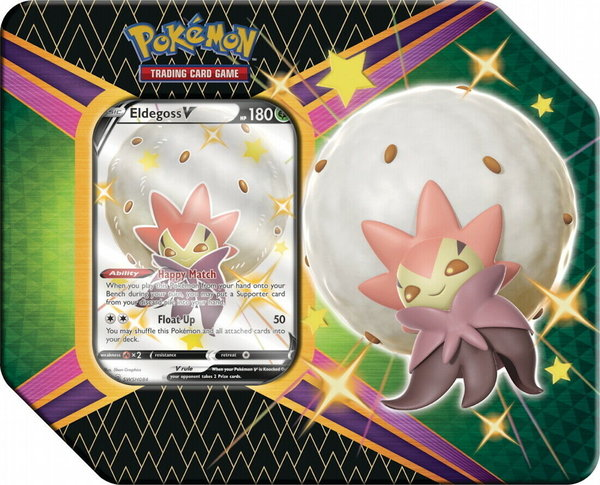 SWSH 4.5 Tin Box 1-  Eldegoss V - Pokemon - Shining Fates - OVP Englisch