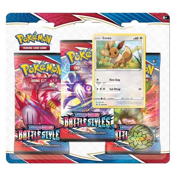 SWSH05 - Battle Styles -  Checklane Blister #Eevee - 3 Booster - Englisch OVP