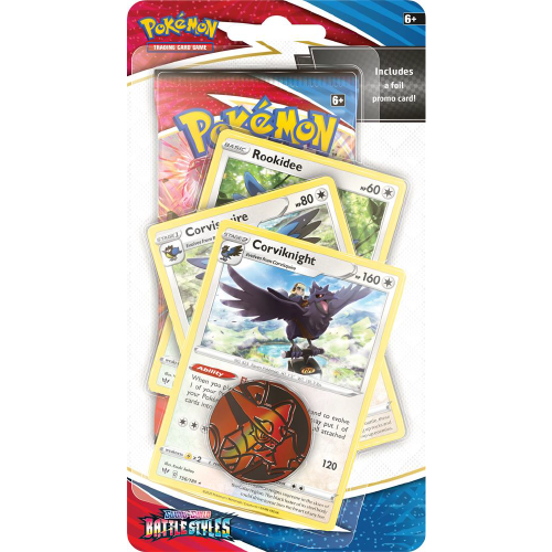 SWSH05 - Battle Styles -  Premium Checklane Blister Evolutionslinie  Corviknight - EN OVP